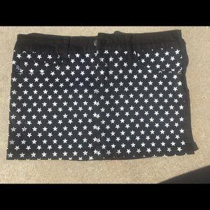 Black and white starred skirt